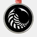 Kiwi de NZ/emblema del helecho de plata Adornos