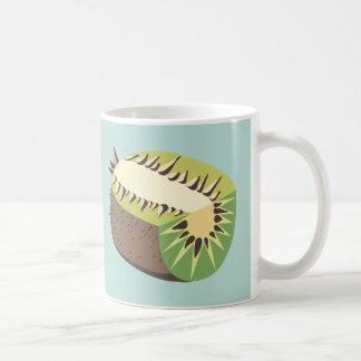 Kiwi fruit illustration taza de café