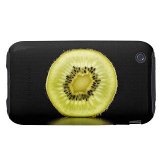 Kiwi, fruta, fondo negro carcasa though para iPhone 3