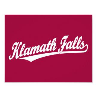 Klamath cae logotipo de la escritura en blanco invitación 10,8 x 13,9 cm