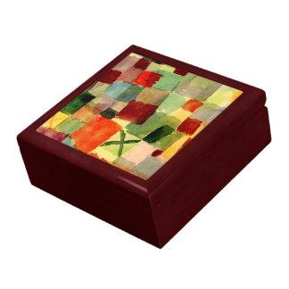 Klee - acuarela con la cruz verde oscuro caja de regalo