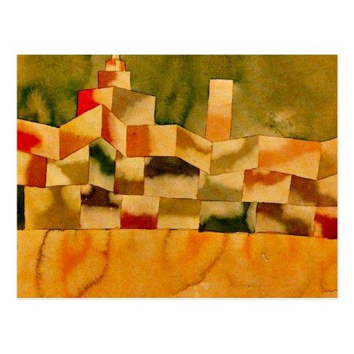 Klee - arquitectura oriental tarjetas postales