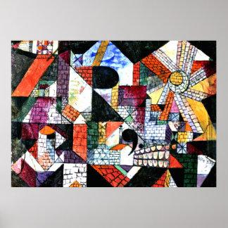 Klee - ciudad de R; Ilustraciones de Paul Klee Póster