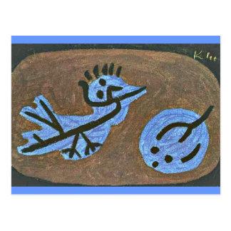 Klee: Pájaro-Calabaza azul Tarjeta Postal