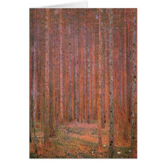Klimt - bosque I del abeto, pintando por Gustavo Tarjeta