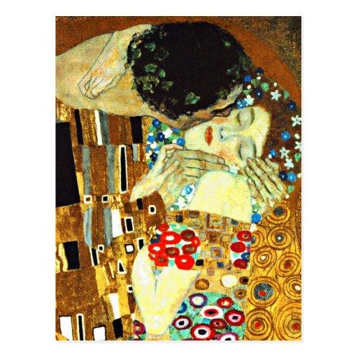 Klimt - el beso tarjeta postal