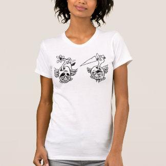 KNIFEHEAD contra FLOWERHEAD Camiseta