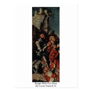 Knight con dos hijos por Lucas Cranach (i) Postal