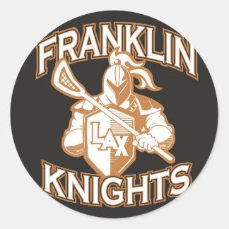 Knights al pegatina del auto del logotipo del negr