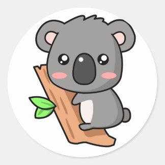 Koala de Kawaii Pegatina Redonda