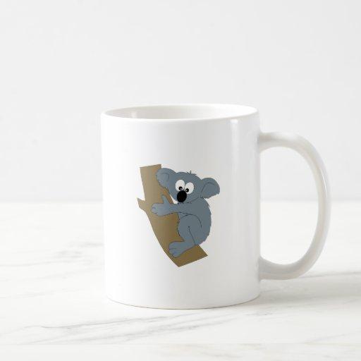 Koala del dibujo animado tazas