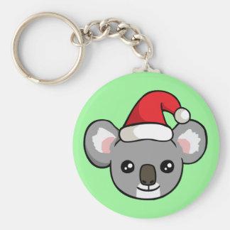 Koala linda del navidad en llavero del dibujo del