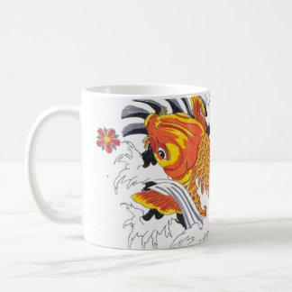Koi fish taza de café