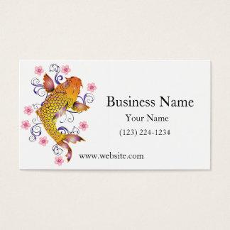Koi hermoso tarjeta de negocios