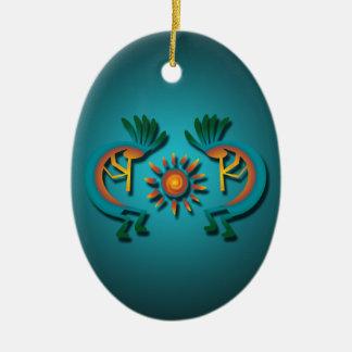Kokopelli con el ornamento de encargo del navidad