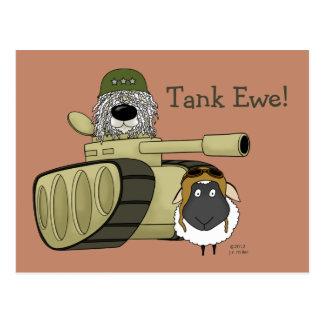 Komondor - oveja del tanque postal