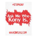 Kony 2012 aviadores a todo color tarjeta publicitaria