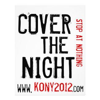 Kony 2012 aviadores cubre la noche folleto 21,6 x 28 cm