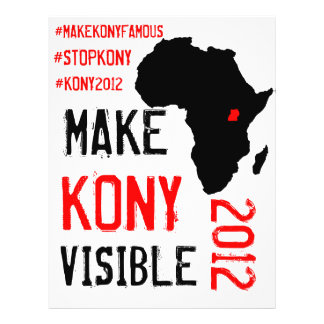 Kony 2012 aviadores - equipo de la acción folleto 21,6 x 28 cm