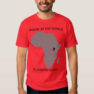 KONY 2012 - ¿Dónde? Rojo Camiseta