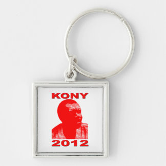 Kony 2012. Haga a los niños invisibles visibles. Llavero Cuadrado Plateado