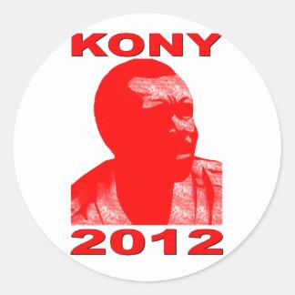 Kony 2012. Haga a los niños invisibles visibles. Pegatina Redonda