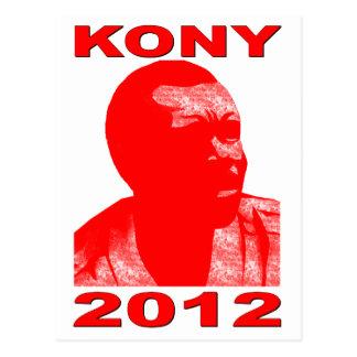 Kony 2012. Haga a los niños invisibles visibles. Postal