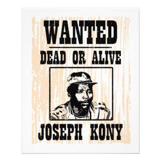 Kony José 2012 Kony quiso el poster Folleto 11,4 X 14,2 Cm