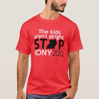 Kony los niños no está bien camiseta
