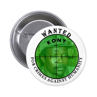 Kony quiso: Para el botón de los crímenes Pins