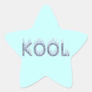 Kool - Bookplate conocido helado de la etiqueta