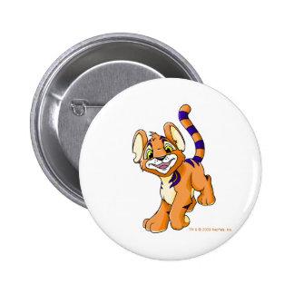 Kougra anaranjado aventurero chapa redonda 5 cm