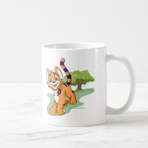 Kougra anaranjado aventurero en la isla del mister tazas