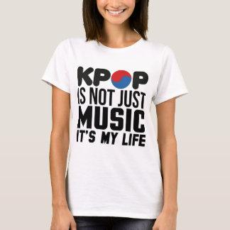 Kpop es mis gráficos del lema de la música de la camiseta