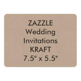 """KRAFT 100lb 7,5"""" x 5,5"""" invitaciones del boda Invitación 13,9 X 19,0 Cm"""