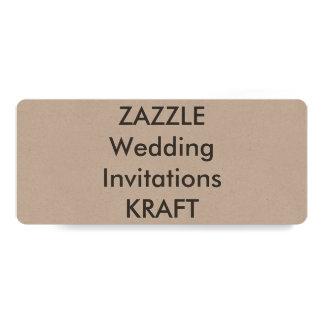 """KRAFT 9,25"""" x 4"""" invitaciones del boda Invitación 10,1 X 23,5 Cm"""