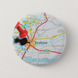 Kraków, Kraków, Cracovia en Polonia Chapa Redonda De 5 Cm