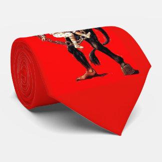 Krampus castiga el mún lazo de los niños corbatas
