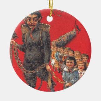 Krampus con los malos niños ornamento para arbol de navidad
