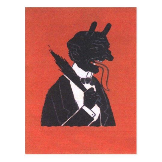 Krampus en smoking postal