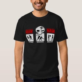 Krav Maga - pequeños iconos 3D Camisetas