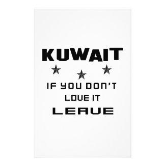 Kuwait si usted no lo ama, se va  papeleria