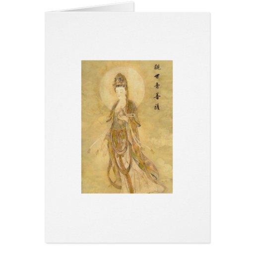 Kwan Yin la diosa de la compasión Tarjeton
