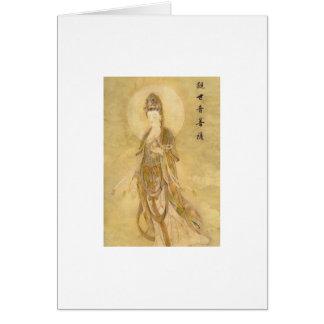 Kwan Yin la diosa de la compasión Tarjeta De Felicitación