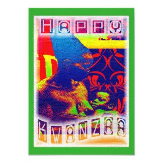 Kwanzaa feliz invitación 11,4 x 15,8 cm