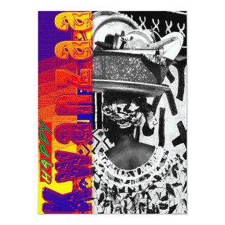 Kwanzaa feliz invitación 13,9 x 19,0 cm