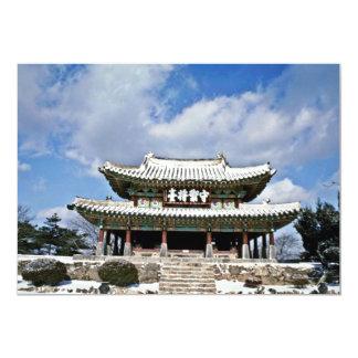 Kyonggi-Hace, Namhansansong (la fortaleza del sur Invitación 12,7 X 17,8 Cm