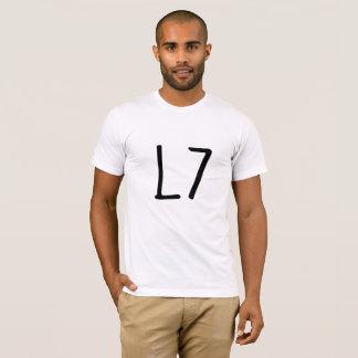 L 7 camisa cuadrada divertida