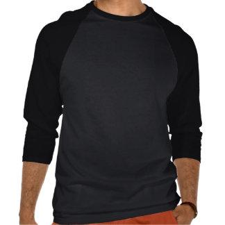 L cortado, negro y gris camiseta