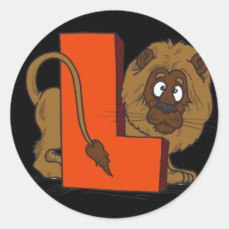 L está para el león pegatinas